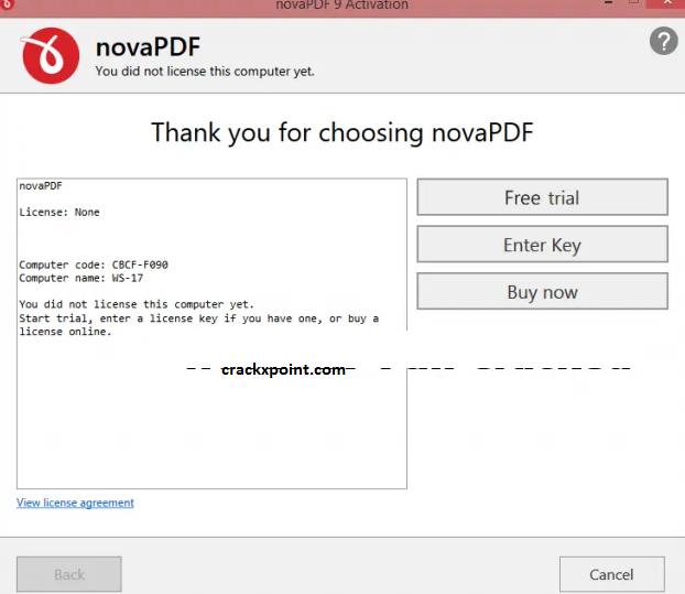 novaPDF Key